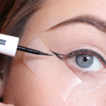 use tape to draw a perfect Winged Eyeliner